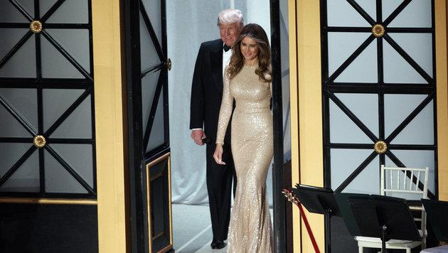 Donald Trump und Melania Trump bei einem Dinner am Vorabend der Inauguration. (Bild: AP)