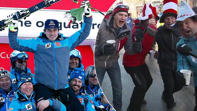 Fans flippen nach Mayer-Sieg aus - Schweizer sauer (Bild: APA/HERBERT NEUBAUER)