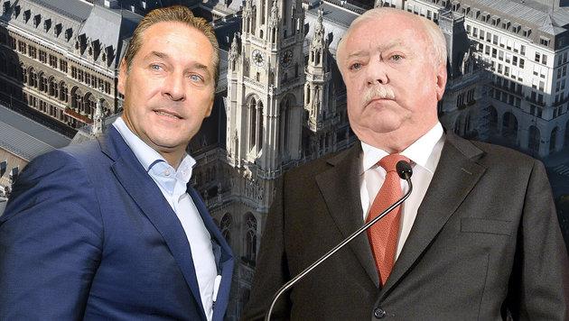 Wien-Umfrage: FPÖ mit 37 Prozent weit vor SPÖ (Bild: APA/HELMUT FOHRINGER, APA/HERBERT PFARRHOFER, APA)