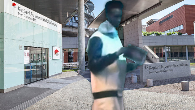"""Koran-Prediger (24) wollte Pfleger erwürgen (Bild: """"Krone"""", Kepler Universitätsklinikum)"""