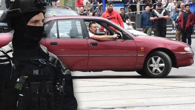 Australien: Mehrfachmord mit Auto in Fußgängerzone (Bild: APA/AFP/PETER PARKS, twitter.com)