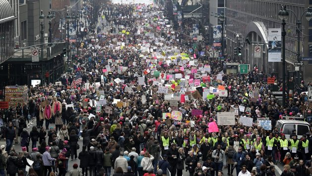 Demonstration in New York (Bild: EPA)