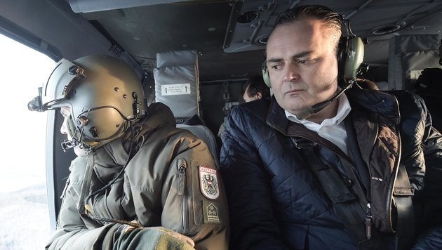 """Doskozil: """"Festnahme zeigt, dass wir vorbereitet sind, aber es gibt keine absolute Sicherheit."""" (Bild: APA/BUNDESHEER/PUSCH)"""