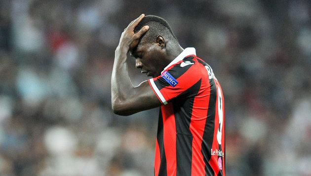 Affenlaute im Stadion: Balotelli außer sich (Bild: GEPA)