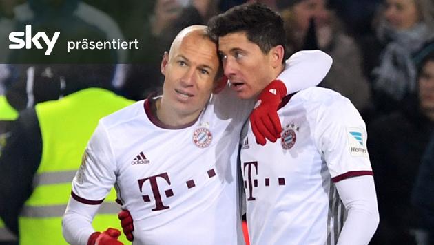 Bayern siegt in Freiburg mit 2:1 - das Video! (Bild: AP)