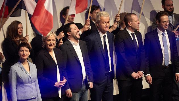Europas Rechte erhofft sich von Trump Rückenwind (Bild: APA/dpa/Thomas Frey)