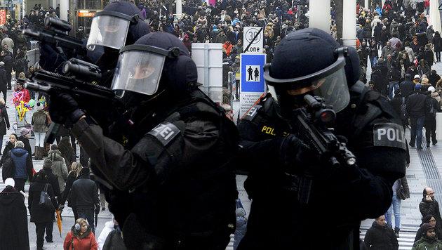 Nach Terrorbedrohung: Ist Österreich noch sicher? (Bild: APA/HERBERT PFARRHOFER, APA/ROLAND SCHLAGER)