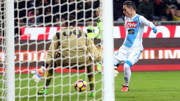 Napoli verkürzt Rückstand auf Juventus Turin (Bild: AP)