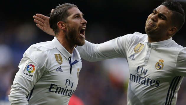 Real Madrid siegt dank Ramos-Doppelpack (Bild: AP)