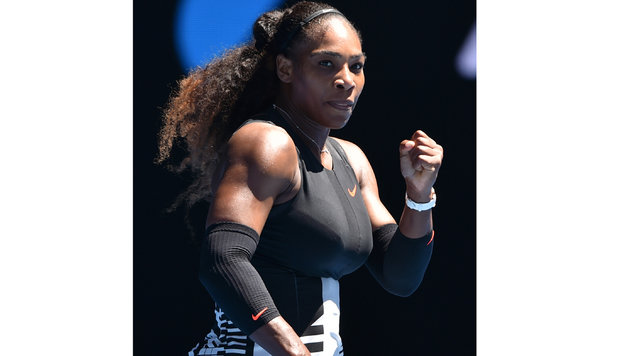 Serena Williams glänzt bei den Australian Open als Bodybuilderin (Bild: AFP or licensors)