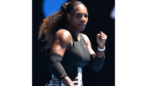Serena Williams glänzt bei den Australian Open als Bodybuilderin (Bild: AFP or licensors)
