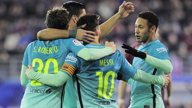 FC Barcelona überrollt Eibar mit 4:0 (Bild: AFP)