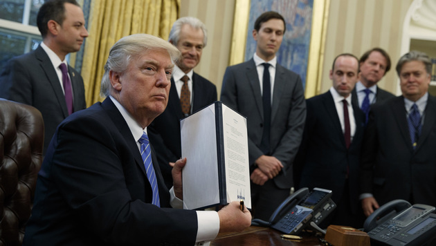 USA steigt aus TTP-Abkommen mit Pazifikstaaten aus (Bild: The Associated Press)