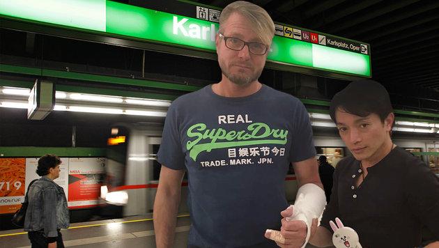 Modedesigner La Hong ist schockiert, dass sein Freund, Bratschist Michael B., attackiert wurde. (Bild: Reinhard Holl)