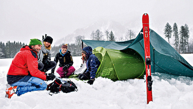 Auch Biwakieren wird den Urlaubern angeboten. (Bild: Markus Wenzel)