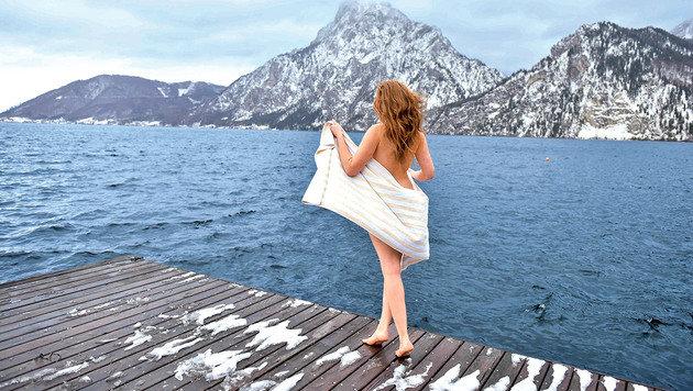 """Im Hotel """"Das Traunsee"""" kann man nach der Sauna in den See hüpfen. (Bild: Markus Wenzel)"""