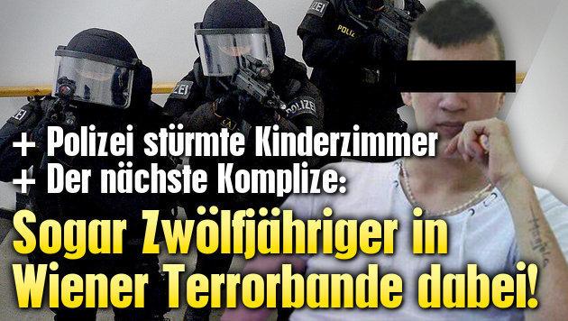 Sogar Zwölfjähriger in Wiener Terrorbande dabei!