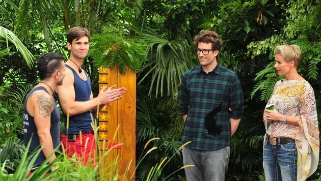 """Marc und """"Honey"""" treten zur Dschungelprüfung an. (Bild: RTL)"""