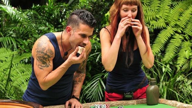 Marc und Hanka bei der Dschungelprüfung (Bild: RTL)