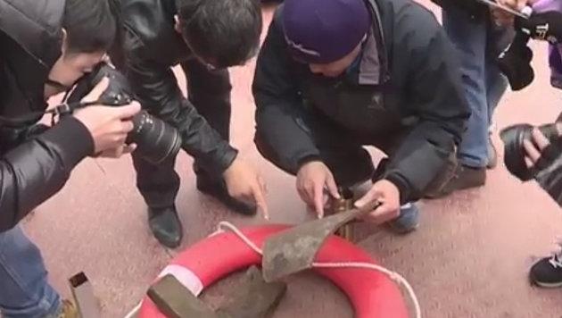 Versunkene Buddha-Büste in China entdeckt (Bild: YouTube.com)