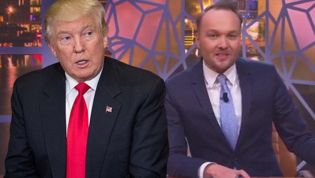 TV-Satire stellt Niederlande im Trump-Stil vor (Bild: YouTube.com, AFP/Nicholas Kamm)