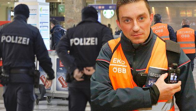 """""""Aktion scharf"""" für mehr Sicherheit auf Schiene (Bild: APA/HERBERT PFARRHOFER, Martin A. Jöchl)"""