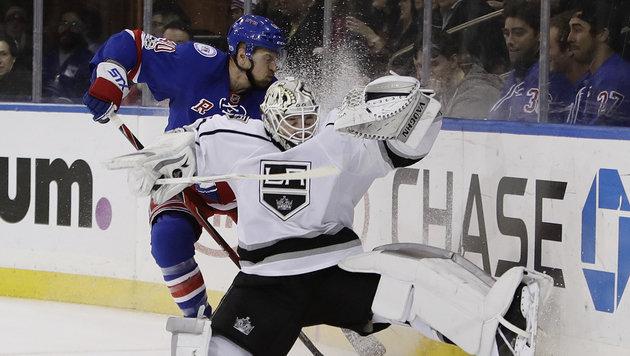 Grabner holt mit Rangers dritten Sieg in Folge (Bild: AP)