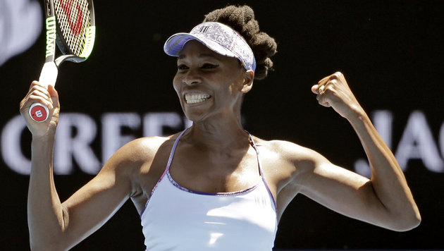 Oldie but Goldie: Venus Williams im Halbfinale (Bild: AP)