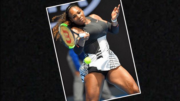 Na, erraten? Serena Williams glänzt bei den Australian Open mit ihren monströsen Oberschenkeln. (Bild: AFP)
