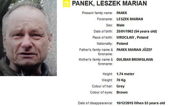 Profil des verhafteten Polen auf der Website von Interpol (Bild: Interpol)