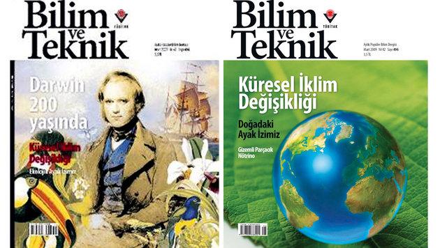Das umstrittene Cover mit Darwin (links) musste durch ein anderes (rechts) ersetzt werden. (Bild: AFP)