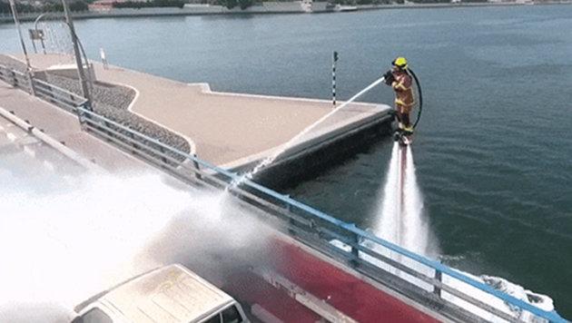 Dubai hat die coolste Feuerwehr der Welt (Bild: YouTube.com)