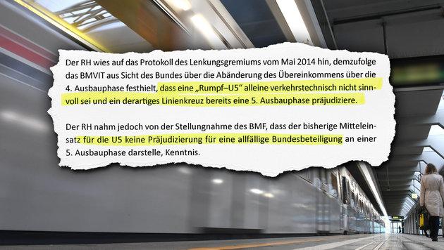Rechnungshof: 'Bau der 'Rumpf-U5' nicht sinnvoll' (Bild: APA/Helmut Fohringer)