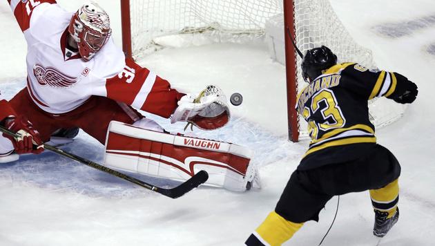 Detroit verliert ohne verletzten Thomas Vanek (Bild: AP)