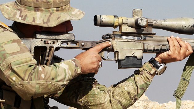 Irak: Sniper erschoss 3 IS-Kämpfer mit einer Kugel (Bild: AFP/AHMAD AL-RUBAYE)