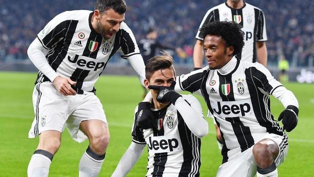 Juventus Turin nach 2:1 gegen Milan im Halbfinale (Bild: AP)