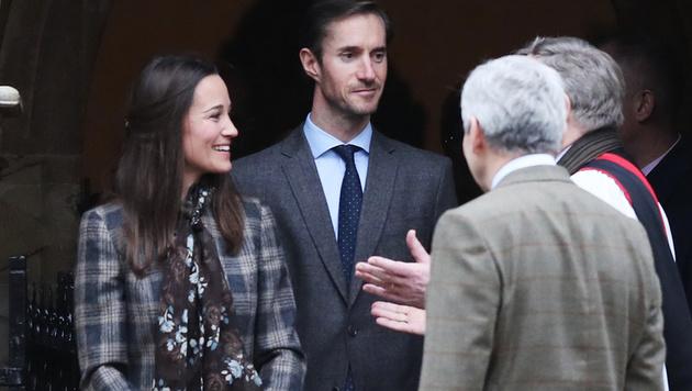 Pippa Middleton und ihr Verlobter James Matthews (Bild: AFP)