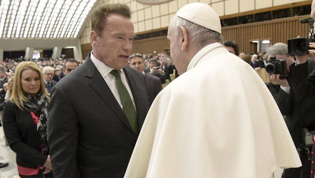 Schwarzenegger ist als möglicher US-Botschafter am Heiligen Stuhl im Gespräch (Bild: AP)