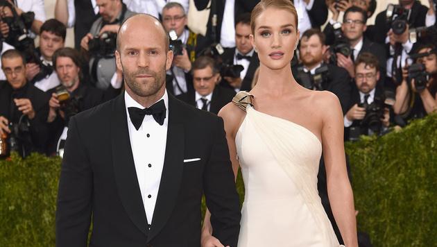 Jason Statham und Rosie Huntington-Whiteley (Bild: Dimitrios Kambouris/Getty Images/AFP)