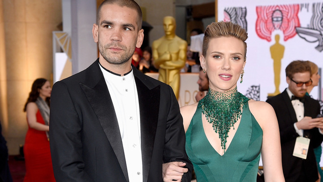 Scarlett Johansson mit Romain Dauriac (Bild: Kevork Djansezian/Getty Images/AFP)