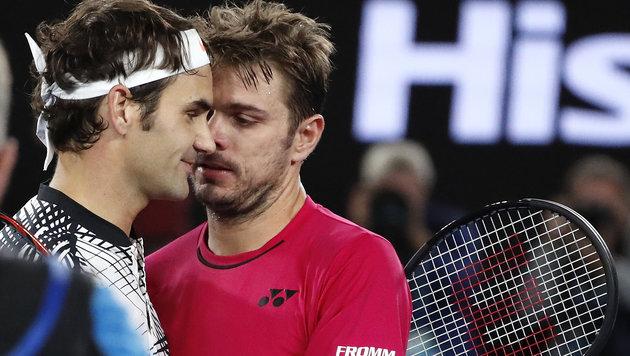 Finale! Federer gewinnt Krimi gegen Wawrinka (Bild: AP)