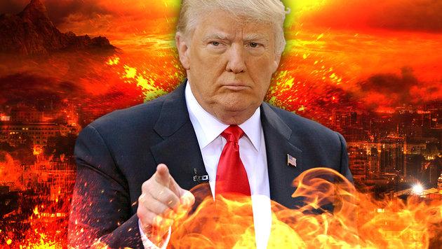 "Trump: ""Man muss Feuer mit Feuer bekämpfen!"" (Bild: thinkstockphotos.de, face to face)"