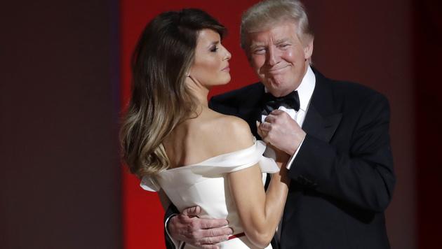 Wie unglücklich ist die neue First Lady? (Bild: AP)