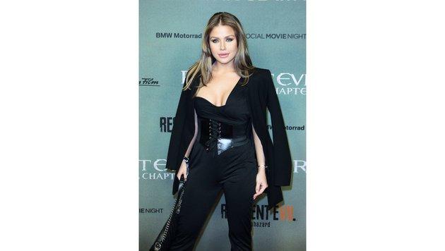 "Kim Gloss bei der ""Resident Evil""-Premiere Anfang Jänner (Bild: Viennareport)"