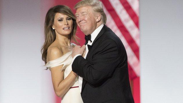 """Melania Trump und Donald Trump beim """"Freedom Ball"""" nach der Inauguration (Bild: EPA)"""