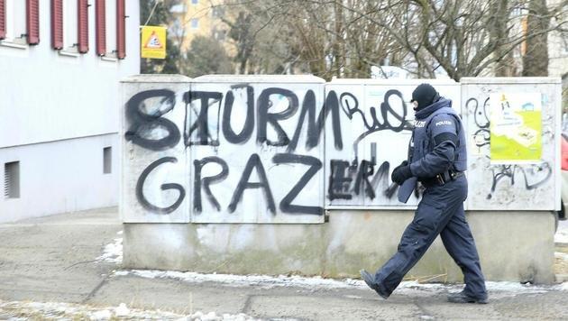 Anti-Terror-Einsatz in Graz (Bild: APA/ERWIN SCHERIAU)