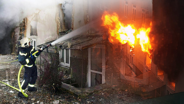 Wien: Mieter verursacht gewaltige Gasexplosion (Bild: APA/MA 68, krone.at-Grafik)
