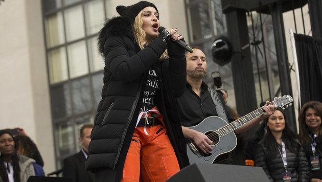 Madonna bei der Washingtoner Anti-Trump-Demo (Bild: Viennareport)