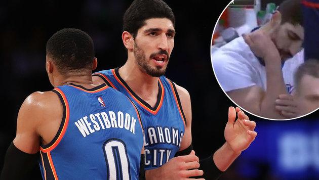 NBA-Star rastet aus: Unterarmbruch nach Boxschlag! (Bild: 2016 Getty Images, twitter.com)