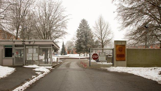 Der Eingang zur Staufer-Kaserne Pfullendorf (Bild: Bundeswehr/Michael Frick)